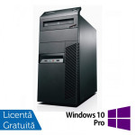Calculator Lenovo Thinkcentre M82 Tower, Intel Core i3-2100 3.10GHz, 4GB DDR3, 250GB SATA, DVD-ROM + Windows 10 Pro