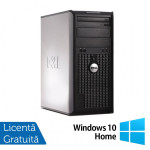 Calculator Dell OptiPlex 380 Tower, Intel Pentium Dual Core E5500 2.80GHz, 2GB DDR3, 250GB SATA, DVD-RW + Windows 10 Home