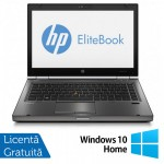 Laptop HP EliteBook 8470p, Intel Core i5-3210M 2.50GHz, 4GB DDR3, 320GB SATA, DVD-RW, 14 inch + Windows 10 Home