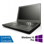 Laptop Refurbished LENOVO Thinkpad x240, Intel Core i5-4300U 1.90GHz, 4GB DDR3, 500GB SATA + Windows 10 Pro, 12.5 Inch