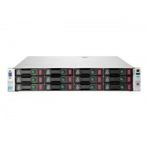 Server Refurbished HP ProLiant DL380e G8, 2U, 2x Intel Octa Core Xeon E5-2450L 1.8 GHz-2.3GHz, 128GB DDR3 ECC Reg, 12 x 600GB SAS/10K/2,5 on 3,5 adapter, Raid Controller HP SmartArray P420/1GB, iLO 4 Advanced, 2x Surse Hot Swap 750W