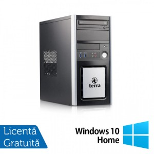 Calculator TERRA Tower, Intel Core i3-4130 3.40GHz, 8GB DDR3, 120GB SSD, DVD-ROM + Windows 10 Home