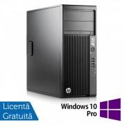 Workstation HP Z230 Tower, Intel Xeon Quad Core E3-1245 v3 3.40GHz-3.80GHz, 16GB DDR3, 1TB SATA, DVD-RW, AMD Radeon HD 7350 1GB GDDR3 + Windows 10 Pro